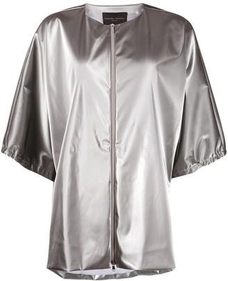 Fabiana Filippi Metallic Collarless Jacket