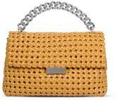 Stella McCartney saffron becks weaved small shoulder bag