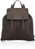 Bottega Veneta Women's Intrecciato Flap Backpack