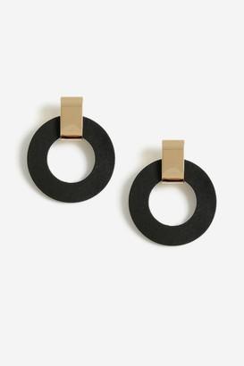 Topshop Circled Drop Earrings