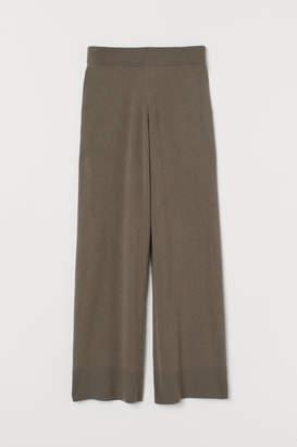 H&M Wide-leg Cashmere Pants