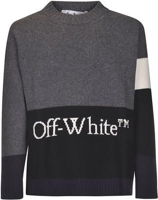 Off-White Color-block Off Crewneck