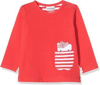 Salt&Pepper Salt and Pepper Baby Girls' mit Kleiner gestreifter Tasche Longsleeve T-Shirt