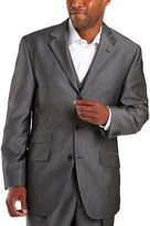 JCPenney Steve Harvey 3-Button Black Stripe Suit Jacket