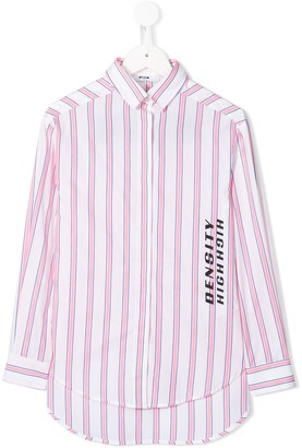 MSGM Kids striped shirt