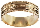 Journee Collection Women's Handcrafted Milgrain Band in Sterling Silver - Gold
