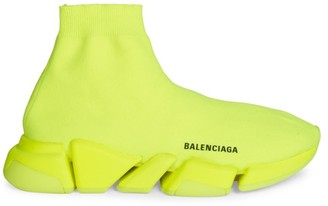 Balenciaga Speed 2 Fluorescent Sock Sneakers
