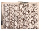 Nina Ricci Snakeskin Frame Clutch