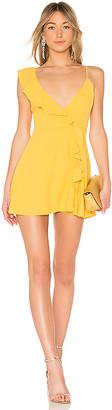 LPA Asymmetrical Ruffle Wrap Dress