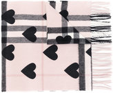 Burberry hearts House Check scarf