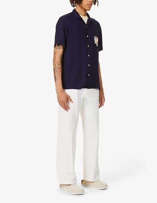 Polo Ralph Lauren Marlin print short sleeve woven shirt