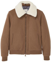 Faux Shearling Aviator Jacket
