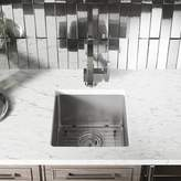 """MR Direct Stainless Steel 16"""" L x 18"""" W Undermount Kitchen Sink with Basket Strainer MR Direct"""