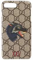Gucci Wolf Iphone 7 Plus Case - Beige