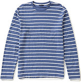Nautica Slim-Fit Horizontal-Striped Terry Crewneck Tee