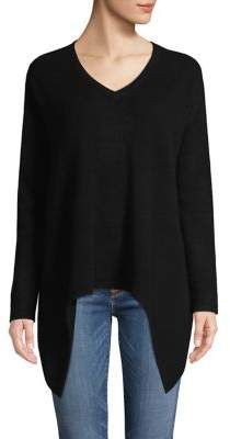 Lord & Taylor Sharkbite-Hem Cashmere Sweater
