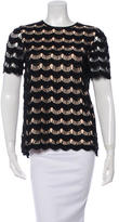 Kate Spade Embroidered Scalloped Top