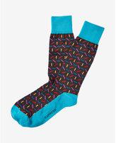 Express confetti dress socks