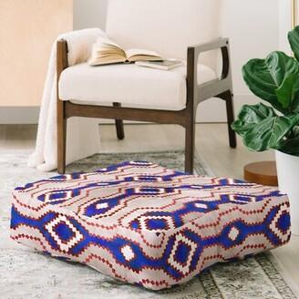 East Urban Home Schatzi Boho Basic Eye RWB Square Floor Pillow