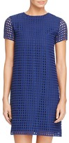 Aqua Grid Lace Shift Dress - 100% Exclusive