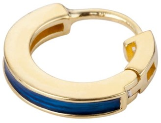Navy Blue Taylor Hoops In Gold