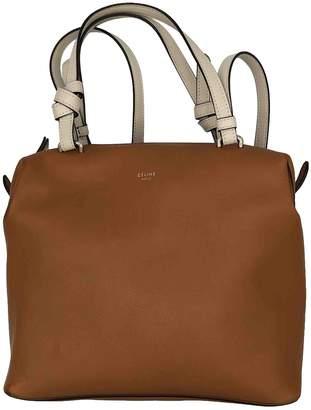 Celine Soft Cube Camel Leather Handbags