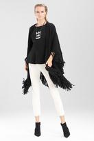 Josie Natori Textured Wool Shawl
