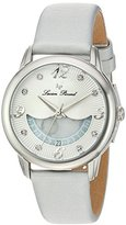 Lucien Piccard Women's 'Bellaluna' Swiss Quartz Stainless Steel and Leather Casual Watch, Color:Silver-Toned (Model: LP-40034-02-SSS)