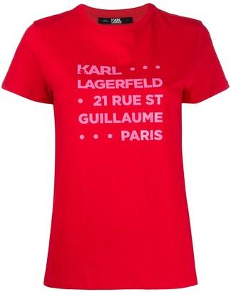 Karl Lagerfeld Paris logo-print T-shirt