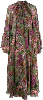 Giambattista Valli Floral-Print Gathered Empire Dress