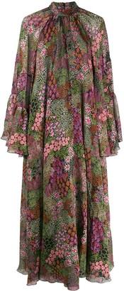 Giambattista Valli Floral-Print Gathered Empire Dress
