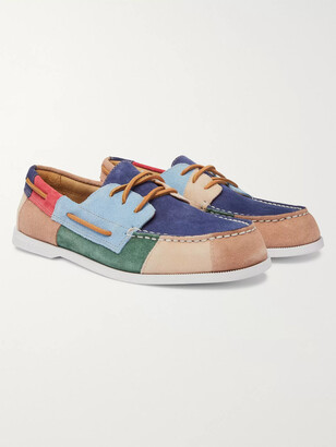 Sperry Authentic Original Colour-Block Suede Boat Shoes