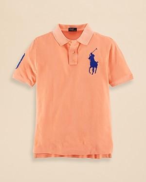 Ralph Lauren Polo Boys' Basic Mesh Big Pony Polo - Sizes S-xl