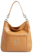 Tory Burch 'Britten' Leather Hobo - Brown