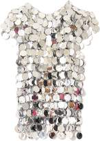 Paco Rabanne Disc Short Sleeve Top in Silver