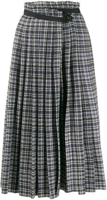 Golden Goose tweed high-rise pleated skirt