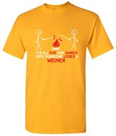 Feelin Good Tees It's All Fun And Games Until Someone Looses A Weiner Funny T Shirt 3XL
