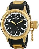 Invicta Men's Quartz Watch with Black Dial Analogue Display and Multicolour Plastic Strap 1436
