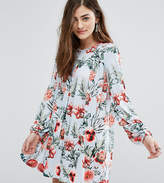 Missguided Floral Print Smock Dress
