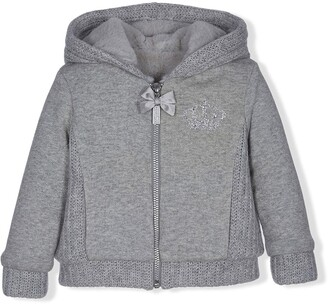 Lapin House Bow Detail Zipped Hoodie