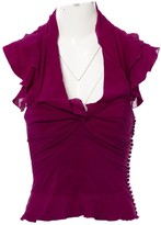 Christian Dior Purple Silk Top for Women Vintage