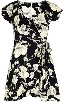 Free People French Quarter floral-print wrap dress