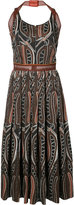 Sophie Theallet printed gathered midi dress - women - Cotton/Polyamide - 4