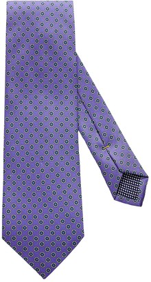 Eton Purple Geometric Print Tie