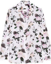 Equipment Leema Floral-print Silk Crepe De Chine Shirt - Ivory