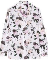 Equipment Leema Floral-print Silk Crepe De Chine Shirt