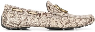 Just Cavalli snakeskin-pattern loafers