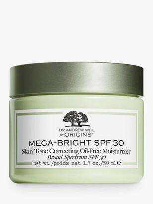 Origins Dr. Andrew Weil for Mega-Bright Skin Tone Correcting Oil-Free Moisturiser, SPF 30, 50ml