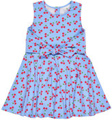 Florence Eiseman Sleeveless Knotted Cherry Circle Dress, Blue, Size 2-6X