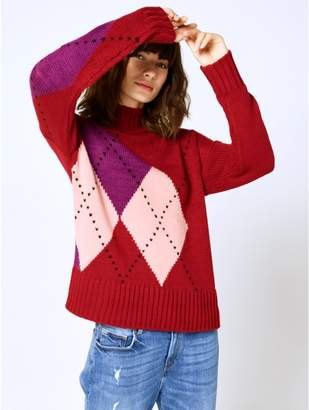 M&Co Argyle knit jumper